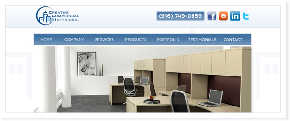 Creative Commercial Interiors, Web Site & SEO Roseville, CA