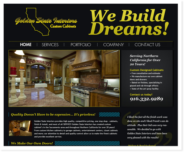 Golden State Interiors, Web Site & SEO Roseville, CA