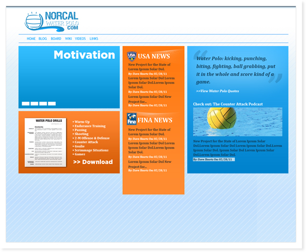 NorCal Water Polo, Web Site & SEO Roseville, CA