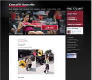 CrossFit Roseville Web Site Design, Roseville 95747