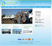 Evolution Air Web Site Design, Bay Area